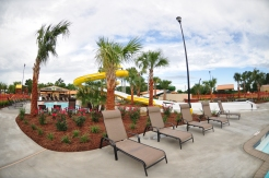 Parents, relax in style while the kids play on our slides or in one of our many pools!