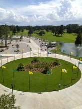 Circle entrance to camping area