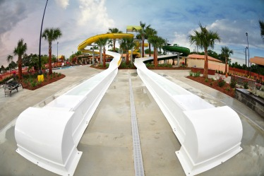 Race your friends down our dual speed slides!