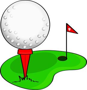 clip art illustration of a cartoon golf ball on a golf course rh gatorgrounds org golf club clipart png golf course background clip art